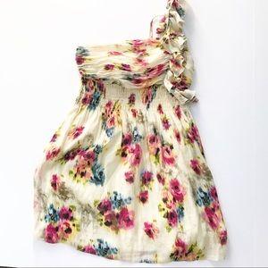 Arden B Dress one shoulder floral medium